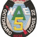 The conclave patch issued in 1974 to NE-5A Conclave participants.
