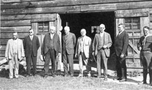 Community Leaders gather for a dedication ceremony in the 1930s.