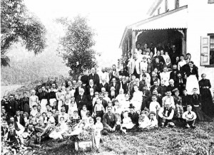 "A Reynolds Family reunion at what is now known as the ""White House""."